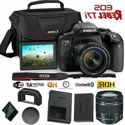 Canon EOS Rebel T7i DSLR Camera w/18-55mm Lens + Carrying Ca