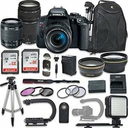 Canon EOS Rebel T7i DSLR Camera with +  Lenses + NEW VIDEO B