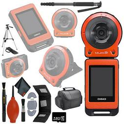 CASIO EX-FR10 EXILIM Digital Action Camera 14.1 MP Orange 64