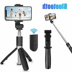Extendable Selfie Stick Bluetooth Remote Tripod Camera Shutt
