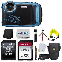 Fujifilm FinePix XP140 Digital Camera Sky Blue+ 48GB + Case