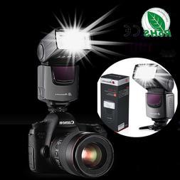 Flash Gun Speedlite Speedlight for Canon Nikon DSLR Camera F