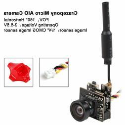 FPV Micro AIO Camera 5.8G 48CH 25mW Transmitter Y Splitter F