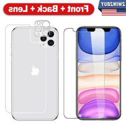 Fr iPhone 11 Pro Max Front+Back+Camera Lens Tempered Glass S