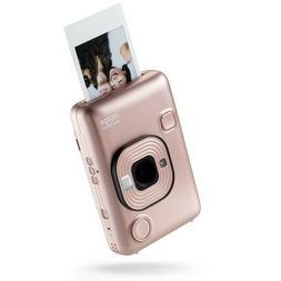 Fuji INSTAX MINI LiPlay Camera & Printer - Blush Gold with C
