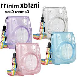 For Fujifilm Instax Mini 11 Camera Protective Hard Glitter C