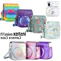 For Fujifilm Instax Mini 11 Film Camera Stylish PU Leather C
