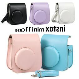 For Fujifilm Instax Mini 11 Instant Film Camera PU Leather B