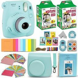 Fujifilm Instax Mini 9 Instant Polaroid Camera + Charger Set