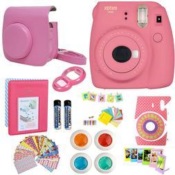 Fujifilm Mini 9 Instant Camera Flamingo Pink + 20 Film All i