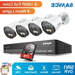 SANNCE Full Color 1080P System 8CH 5IN1 DVR Home Security Ca