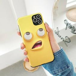 Funny emoji 3D Face Yellow Case Cover For iPhone 11 Pro max