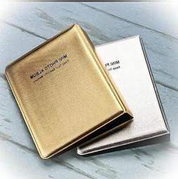 gold silver memory pocket mini photo album