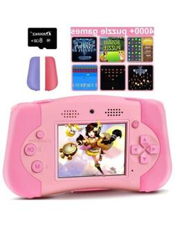 PROGRACE Handheld Game Console Support 4000+ Games Kids Came