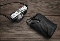 Handmade Black Leather Inner Liner Case Bag for Leica Fuji S