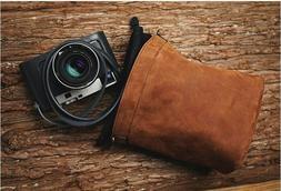 Handmade Brown Leather Inner Liner Case Bag for Leica Fuji S