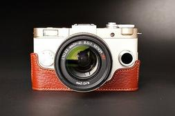 Handmade Genuine real Leather Half Camera Case bag cover for