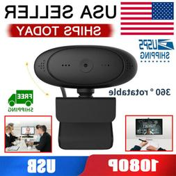 HD 1080P Autofocus Webcam Web Camera with Microphone For PC