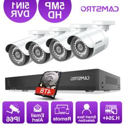 CAMSTRO HD 5MP Security Camera 4CH DVR Outdoor Surveillance