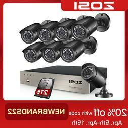ZOSI 8CH H.265+ 1080P Home Surveillance Security Camera DVR