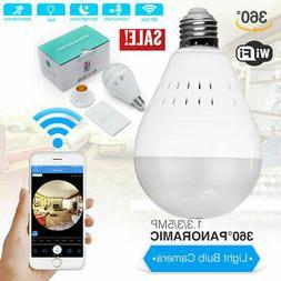 HD 960P Spy Hidden Bulb Camera Home Security WiFi Wireless 3