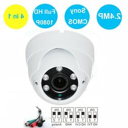 HD TVI 1080P Dome Camera 2.4MP Sony CMOS 2.8-12mm Varifocal