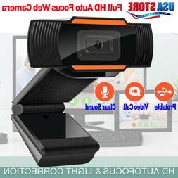 HD Webcam USB 2.0 Computer Web Camera W/Mic for PC Laptop De