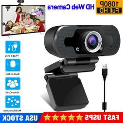 HD1080P USB Webcam Computer PC Laptop Manual Focusing Web Ca