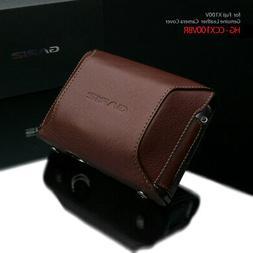 Gariz HG-CCX100VBR Add-On Cover Genuine Leather for Fuji X10