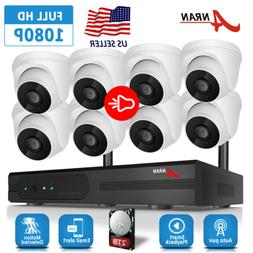 ANRAN 1080P Security Camera System Audio Wireless 2TB Hard D