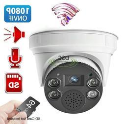 Security Wireless WIFI IP Camera 1080P Indoor Dome Built-in