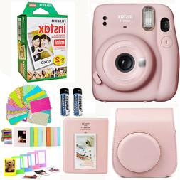 Fujifilm Instax Mini 11 Instant Camera, Blush Pink + 20 Film