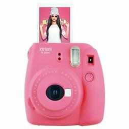 New Fuji Instax Mini 9 Flamingo Pink Camera with Mini Film T