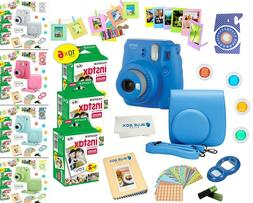 Fujifilm Instax Mini 9 Instant Camera + 60 Fuji Film SHEETS