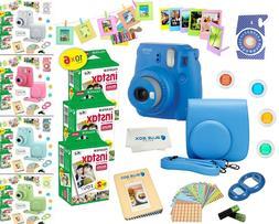 Fujifilm Instax Mini 9 Instant Camera + 60 Fuji Film SHEETS