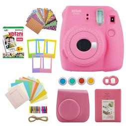 Fujifilm INSTAX Mini 9 Instant Camera  with Film Gift Bundle