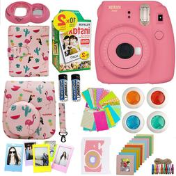 Fujifilm Instax Mini 9 Instant Camera Pink  + 20 Film + Delu