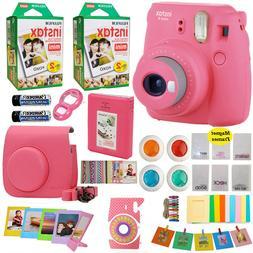 Fujifilm Instax Mini 9 Instant Camera Pink + 40 Film Valenti