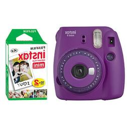 Fujifilm Instax Mini 9 Instant Film Camera Clear Purple + 20