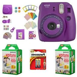 Fujifilm instax mini 9 Instant Film Camera with Clear Accent