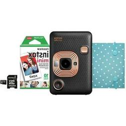 Fujifilm Instax Mini LiPlay Hybrid Instant Camera Bundle, Bl