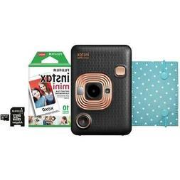 Fujifilm Instax Mini LiPlay Hybrid Instant Camera Bundle, Bl