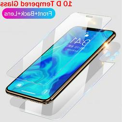 For iPhone 11 Pro Max 9H Front+Back+Camera Lens Tempered Gla