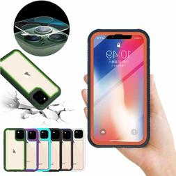 For iPhone 11 Pro Max Case Hybrid Clear Back Armor Cover+Cam