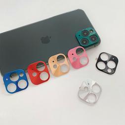 For iPhone 11 Pro Max Rear Camera Lens Protector Aluminum Ri
