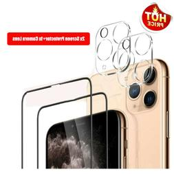 For iPhone 11 Pro Max Tempered Glass Screen Protector Film+C