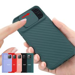 For iPhone 7/8 Plus 11 Pro Max Solid Color Slide Camera Prot
