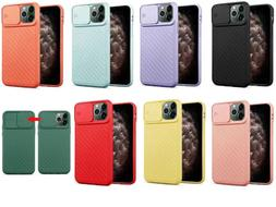 For iPhone, Slide Camera Lens Cover Protect Soft Silicone Ru