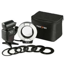 KF-150 Macro Ring Flash Light 6 Adapter Rings for Nikon DSLR