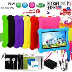 """7"""" Kids Tablet PC Android 4.4 Wi-Fi Case Bundle Dual Camera"""